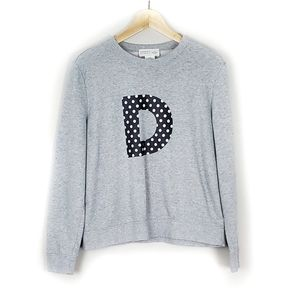 Kate Spade Broome Street D Letter Sweater Size M